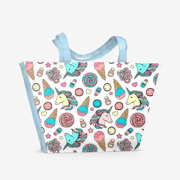 Пляжная сумка «Волшебные единороги»