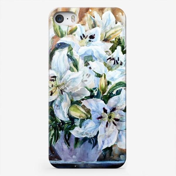 Чехол iPhone «Белые лилии»