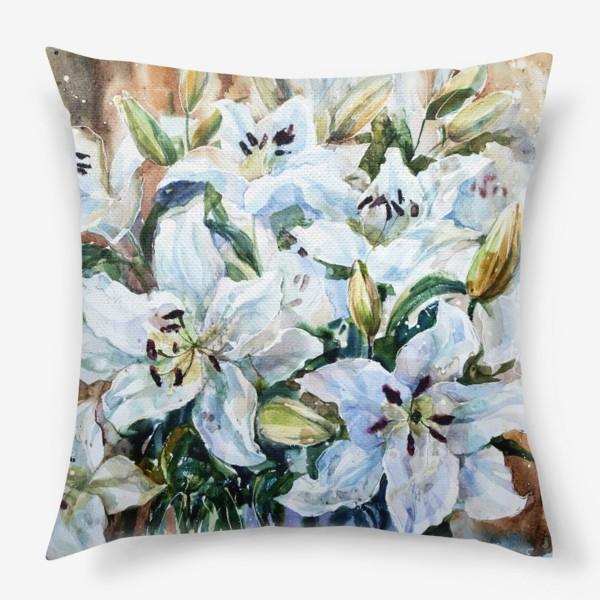 Подушка «Белые лилии»