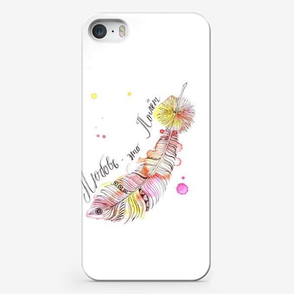 Чехол iPhone «Любовь - это полет»