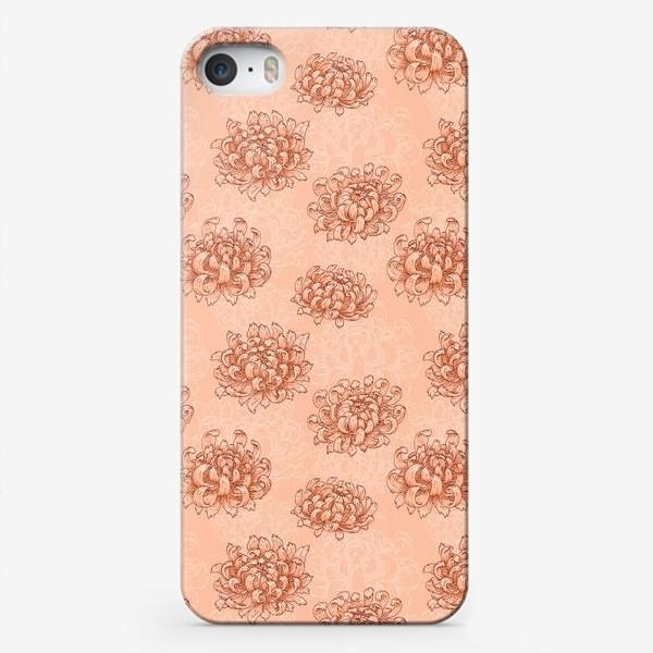 Чехол iPhone «Розовые хризантемы»