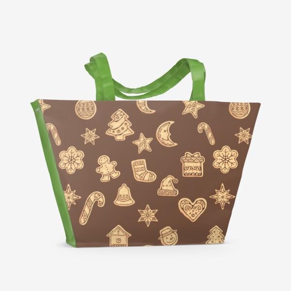 Пляжная сумка «Новогодние печеньки»