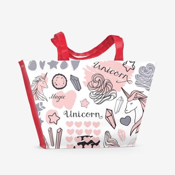 Пляжная сумка «Сказочный единорог»