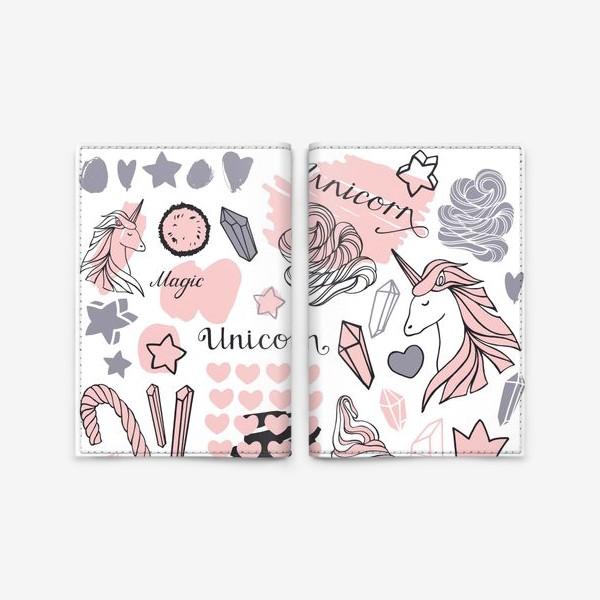 Обложка для паспорта «Сказочный единорог»