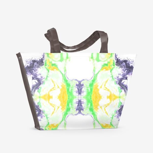 Пляжная сумка «Цветной дым»