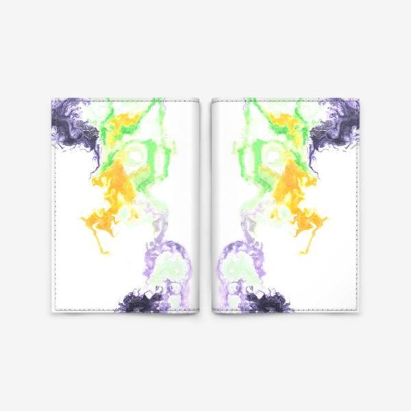 Обложка для паспорта «Цветной дым»