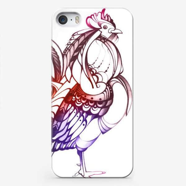 Чехол iPhone «Декоративный петух»