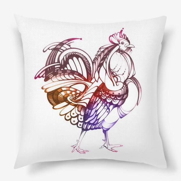 Подушка «Декоративный петух»
