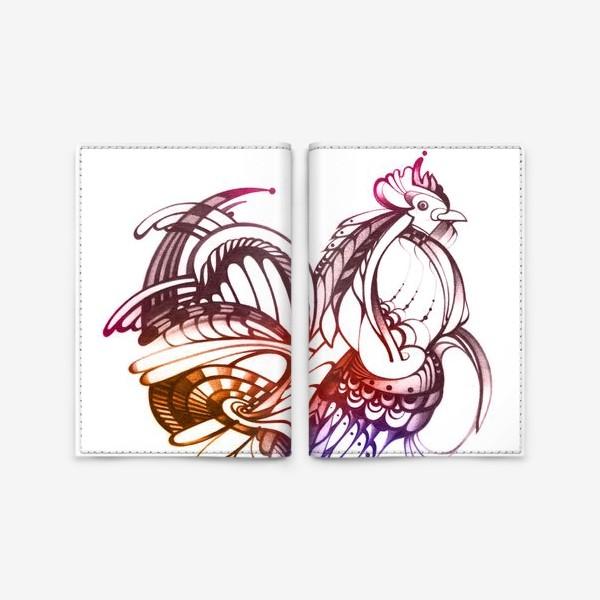 Обложка для паспорта «Декоративный петух»