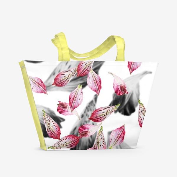 Пляжная сумка «Розовые лепестки»