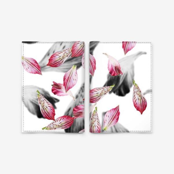 Обложка для паспорта «Розовые лепестки»