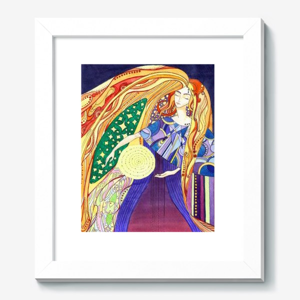 Картина «космическая дева»