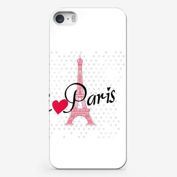 Чехол iPhone «i love Paris»