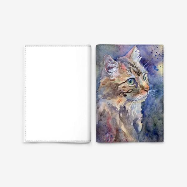 Обложка для паспорта «Рыжая кошка»