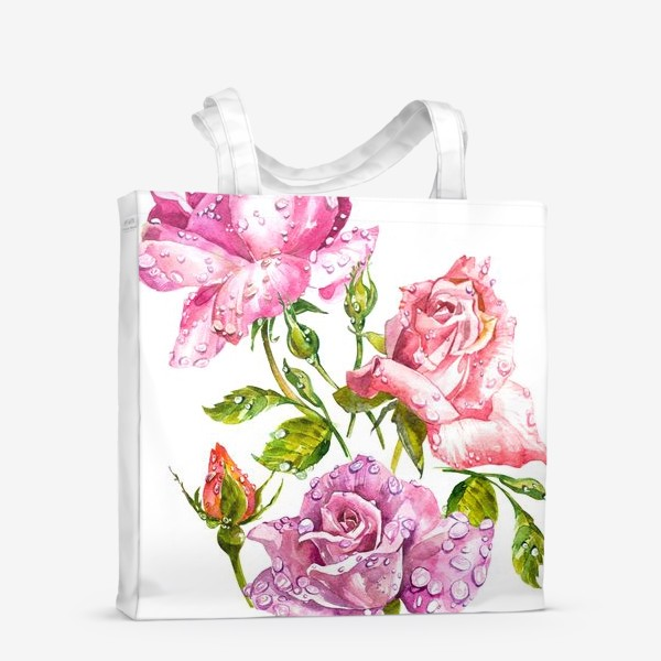 Сумка-шоппер «Watercolor roses»