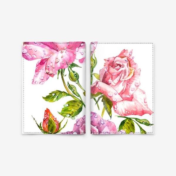 Обложка для паспорта «Watercolor roses»