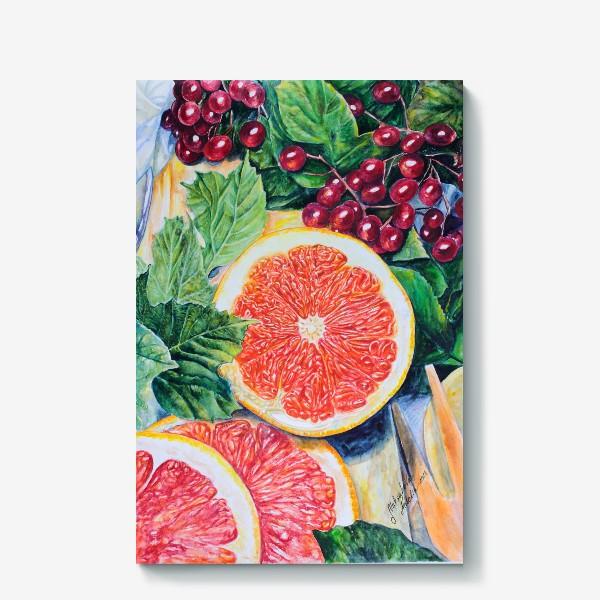 Холст «Красный апельсин»