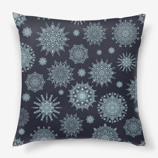 Подушка «Снежная ночь»