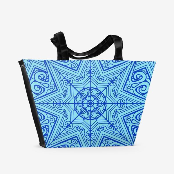 Пляжная сумка «Снежинка»