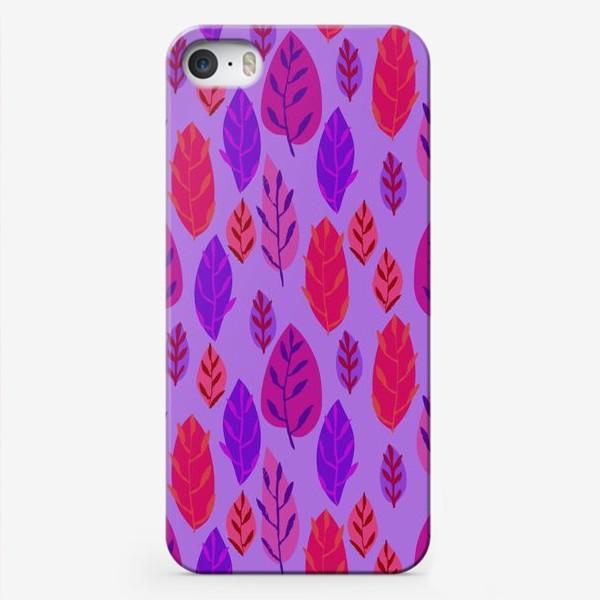 Чехол iPhone «Листочки»