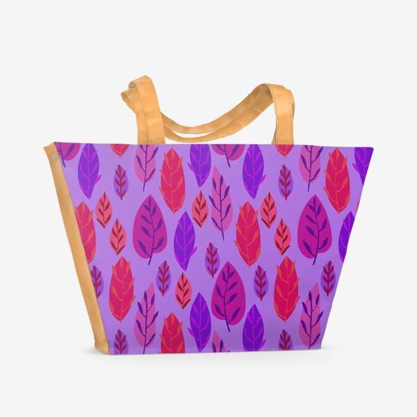 Пляжная сумка «Листочки»
