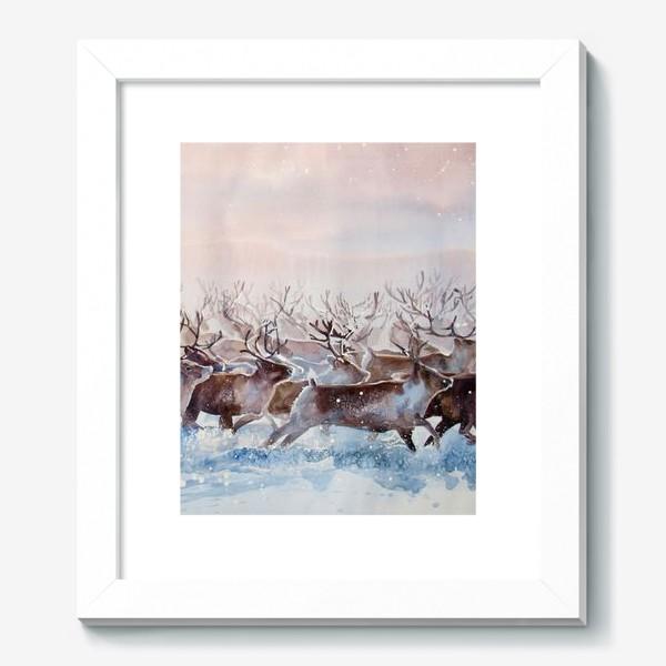 Картина «Северные олени»