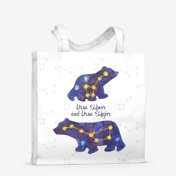Сумка-шоппер «Малая и Большая медведица. Полярные мишки.»