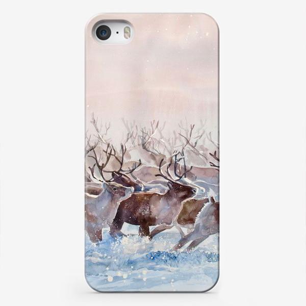 Чехол iPhone «Северные олени»