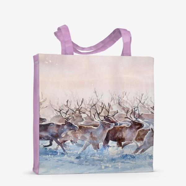 Сумка-шоппер «Северные олени»