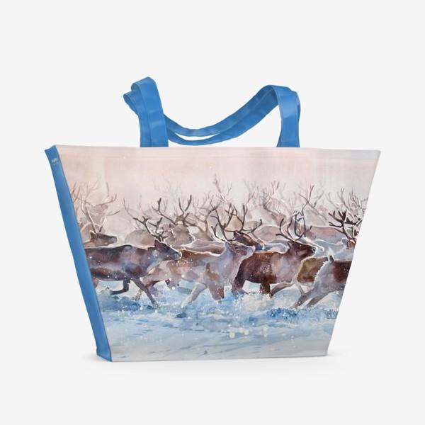 Пляжная сумка «Северные олени»
