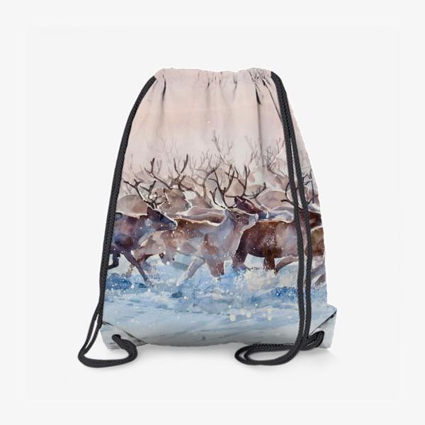 Рюкзак «Северные олени»