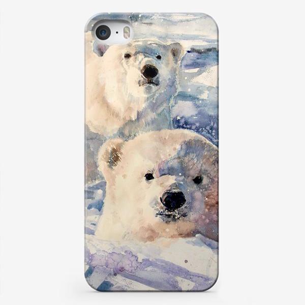Чехол iPhone «Белые медведи»