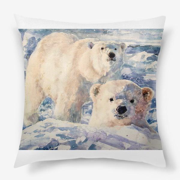 Подушка «Белые медведи»