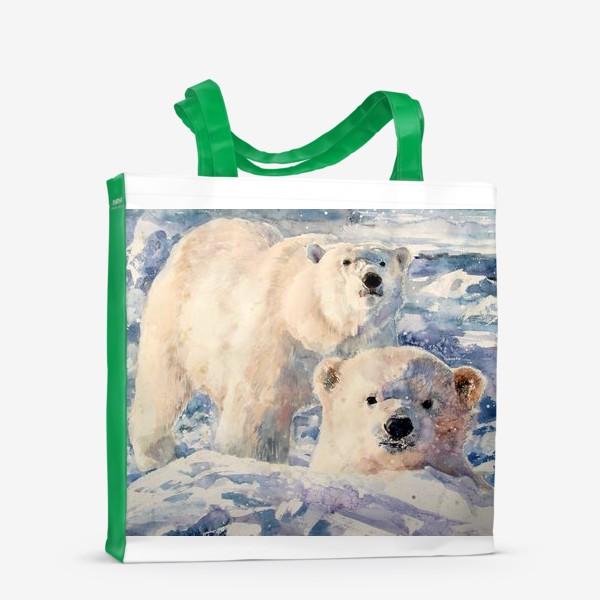 Сумка-шоппер «Белые медведи»