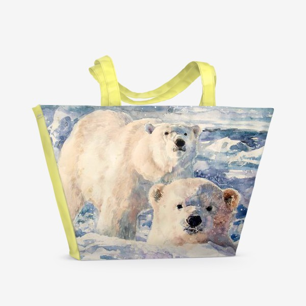 Пляжная сумка «Белые медведи»
