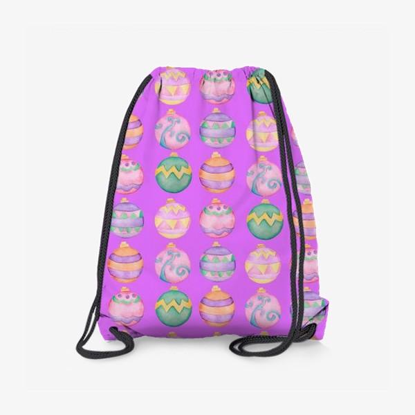 Рюкзак «Новогодние шарики в розовом»