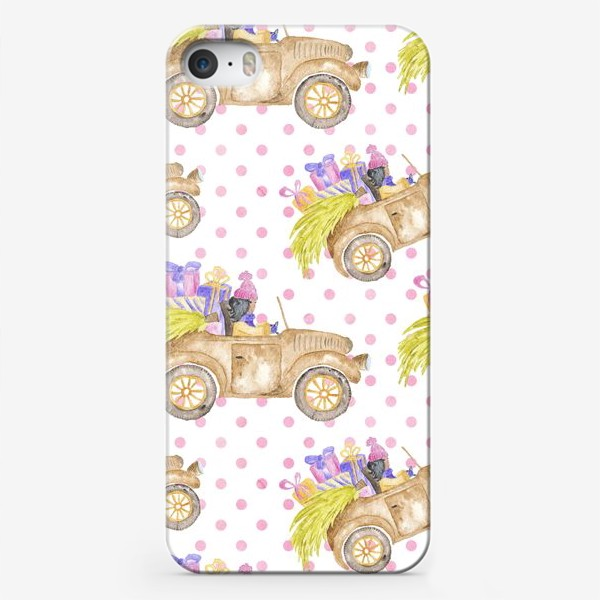 Чехол iPhone «Christmas Car»