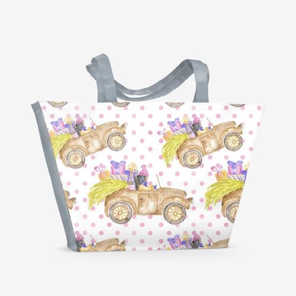 Пляжная сумка «Christmas Car»