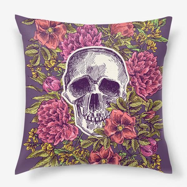 Подушка «Бохо-череп»
