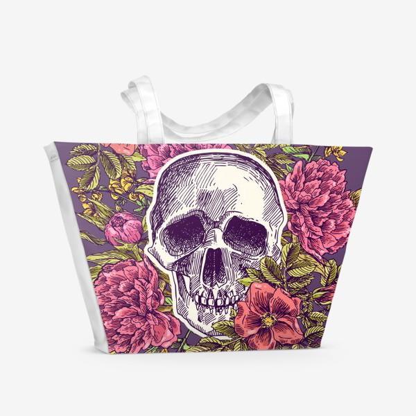 Пляжная сумка «Бохо-череп»