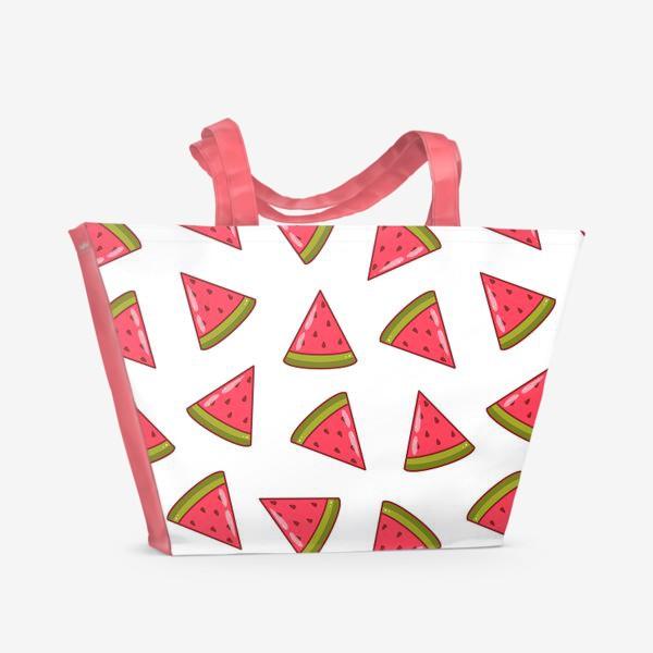 Пляжная сумка «Арбузные дольки»