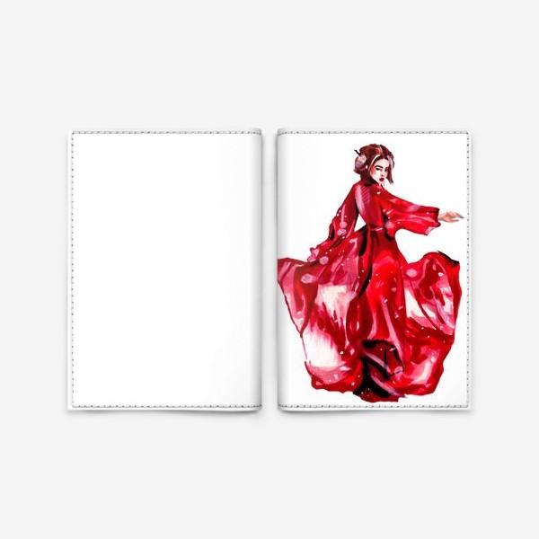 Обложка для паспорта «гейша»