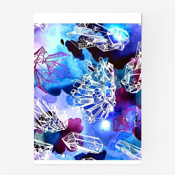 Постер «кристаллы в космосе»