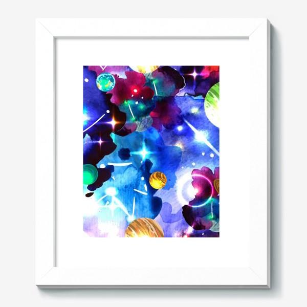 Картина «акварельный космос»