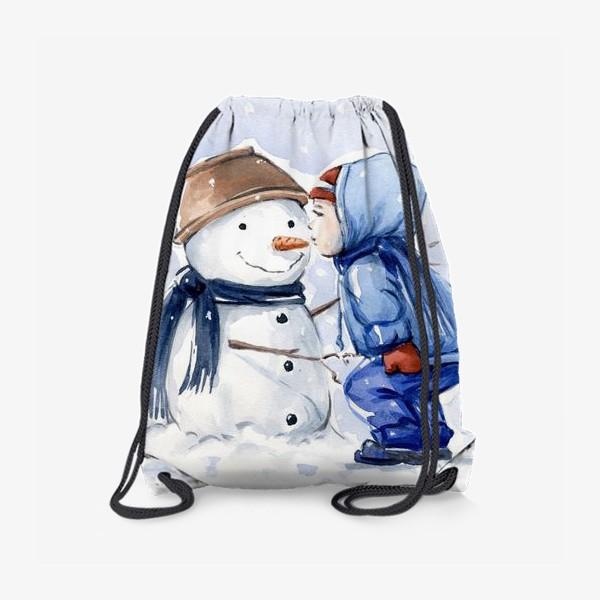 Рюкзак «Снеговик и ребенок»
