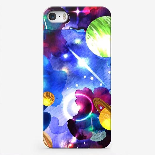 Чехол iPhone «акварельный космос»