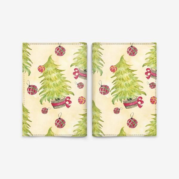 Обложка для паспорта «Новогодняя Елочка»