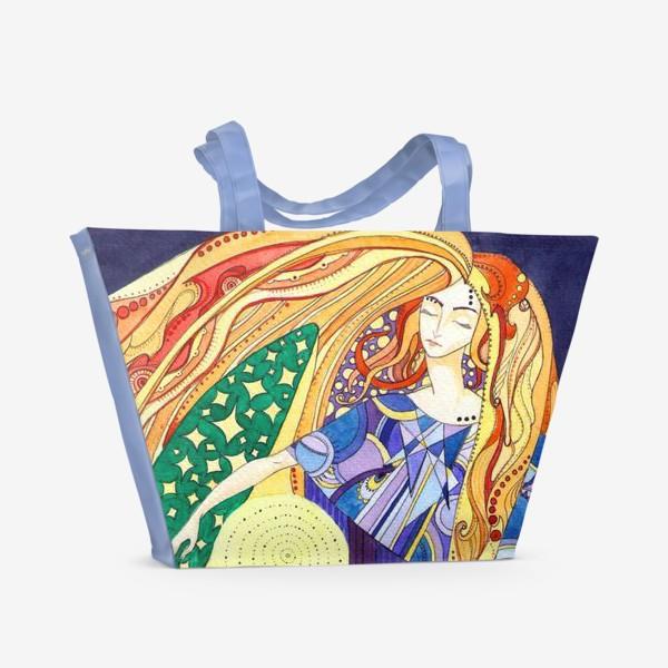 Пляжная сумка «космическая дева»
