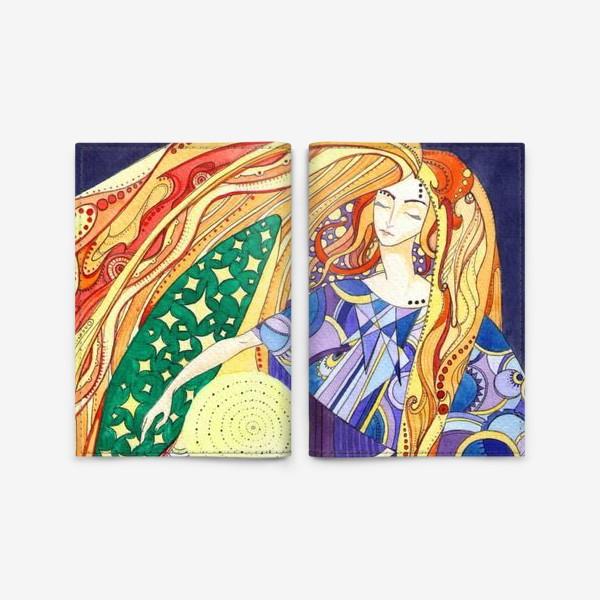 Обложка для паспорта «космическая дева»