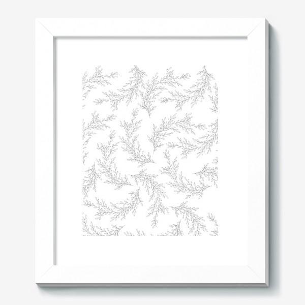 Картина «Нежные веточки на белом фоне»